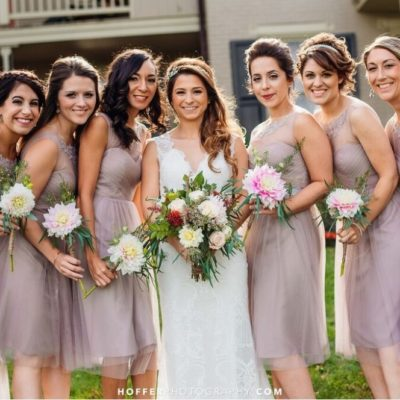 Dahlia Bridal Party Bouquets