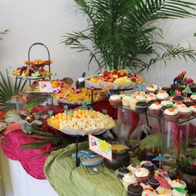 appetizer and dessert table