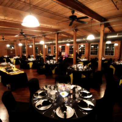 wooden beam wedding reception venue